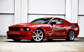 Wallpaper red, Mustang, race