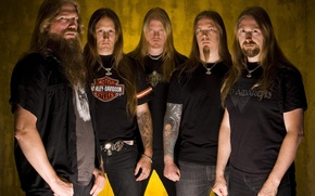 Picture metal, group, the Vikings, the style of Viking metal, melodic death metal, Amon Amarth