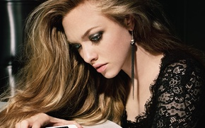 Wallpaper makeup, Amanda Seyfried, Painting Marder, Un-Titled Project, actress, Amanda Seifred, hairstyle
