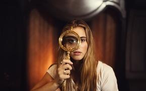 Picture look, girl, Sky, magnifier, Jesse Duke