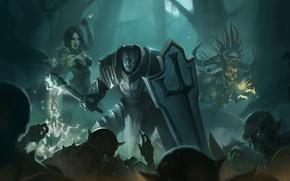 Picture The sorcerer, diablo 3, crusader, trio