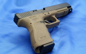 Picture Blue, Gun, Wallpaper, Background, Weapons, Glock, Glock, Wallpapers, Canvas, Weapons, 34OD, 34ОД