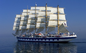 Wallpaper ship, sailboat, sails, rigging
