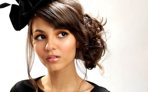 Picture girl, face, hat, brunette, hat, Victoria Justice, Victoria justice