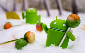 Picture android, winter, snow, toys, lollipop