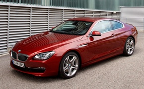 Picture BMW, red, Coupe, Beha, xDrive, car, 640d