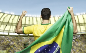 Picture t-shirt, Brazil, football, flag, world Cup, World Cup, Brasil, FIFA, 2014