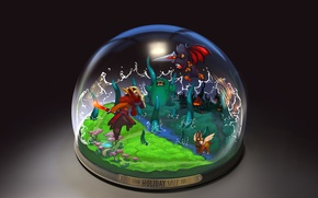 Picture Dota 2, Christmas, steam, snow globe