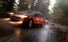 Wallpaper road, speed, rain, ford