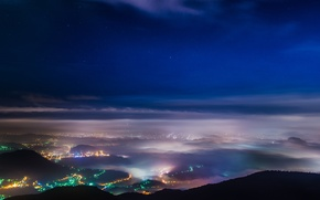 Picture lights, fog, Taiwan