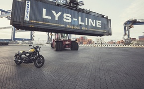 Picture Yamaha, moto, style, yellow, industrial, 2016, XV950