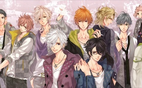 Picture anime, guys, brothers, Brothers Conflict, the brotherly conflict