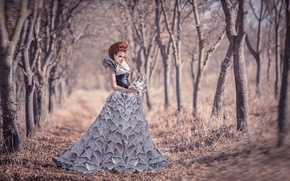 Picture girl, clothing, Newspapers, Dress from newspapers