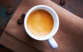 Picture foam, coffee, grain, Cup, white, espresso