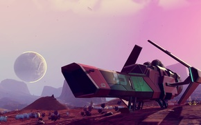 Picture space, starship, No Man's Sky, Hello Games
