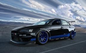 Picture Mitsubishi, Lancer, Sky, Evolution X