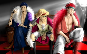 Picture art, guys, one piece, characters, big jackpot