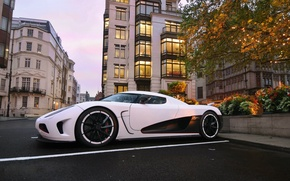 Picture street, the evening, Koenigsegg, Agera, hypercar