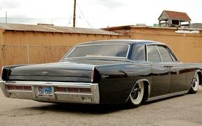 Picture Lincoln, black, Continental, classic, vajtvolly, Low Rider