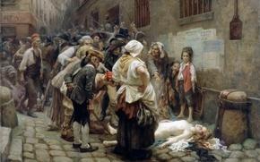 Picture picture, painting, painting, 1908, Death of the Princess de Lamballe, Léon-Maxime Faivre, Смерть принцессы де …