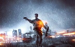 Picture Gun, Rain, Weapons, Electronic Arts, Shotgun, DICE, Battlefield 4, BF4, Soldiers