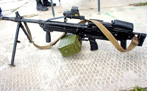 Picture power, gun, cartridges, box, machine gun, Super, Russian, development, ribbon, belt, single, ammo, Russian, machine …