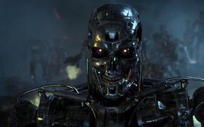 Wallpaper war, terminator, robots