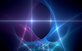 Picture abstraction, fractal, neon light