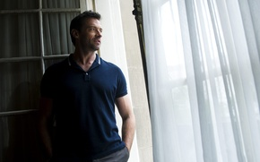 Picture actors, shirt, Hugh Jackman, Wolverine, window