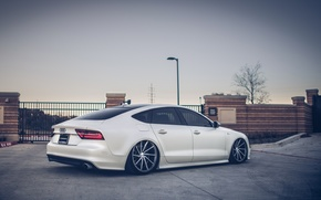 Picture Audi, Tuning, AUDI, Lights, Drives, Vossen, Back
