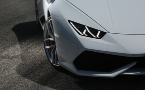 Picture white, Lamborghini, headlight, bumper, Huracan