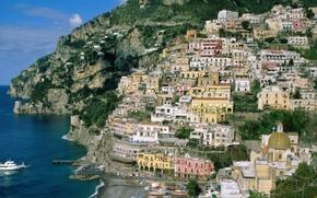 Wallpaper Amalfi, Italy, Campania, Coast
