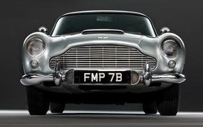 Picture grey, Aston Martin, classic, DB5, 1963—1965