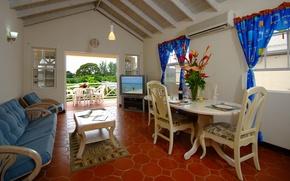 Picture interior, balcony, living room