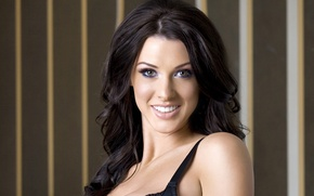 Picture hot, sexy, eyes, smile, brunette, Alice Goodwin