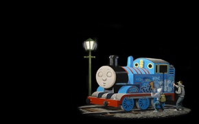 Picture graffiti, train, train, Banksy, Thomas, Banksy