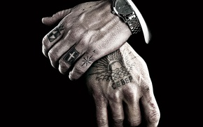 Picture watch, hands, tattoos