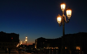 Picture night, the city, lights, street, lights, twilight