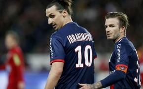 Picture Football, Beckham, PSG, Ibrahimovic