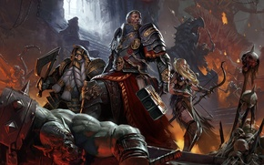 Picture the game, battle, art, warhammer quest card game