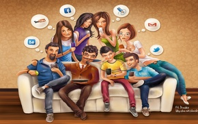 Picture facebook, email, youtube, twitter, social network, social networks