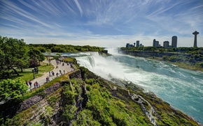 Picture panorama, USA, USA, Niagara falls, New York, Niagara Falls