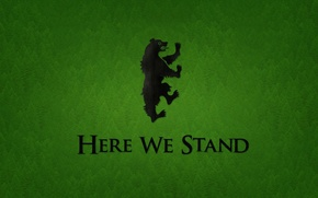 Picture green, logo, bear, tree, series, animal, A Song of Ice and Fire, Game of Thrones, …