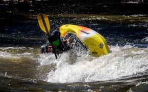 Picture sport, boat, stream