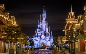 Picture night, lights, Park, CA, USA, USA, Disneyland, Disneyland, Anaheim, Parks