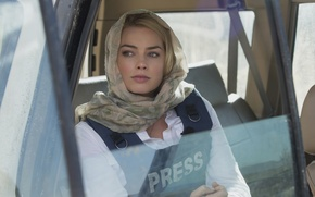 Picture look, face, Margot Robbie, Whiskey Tango Foxtrot