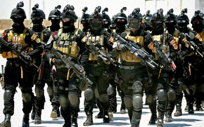 Wallpaper weapons, middle east, Iraq, speznaz, middle East, the Arabs, army, Iraqi Special Operations Forces, soldiers, ...