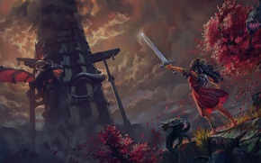 Picture Game, Swords, Dragons, Fiction, Warrior, Toren