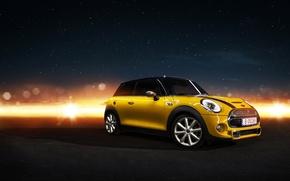 Picture yellow, Mini, mini, Cooper, Cooper S, frontside