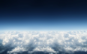 Picture the sky, clouds, blue, heaven